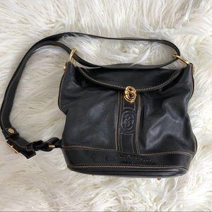 Black Italy leather MARINO ORLANDI HOBO bag purse